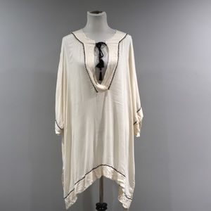 Out From Under Top Womens Large L Off White Tunic